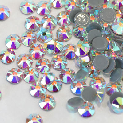 2088 Style 16 Cut Facets Hot Fix Rhinestones Crystal AB