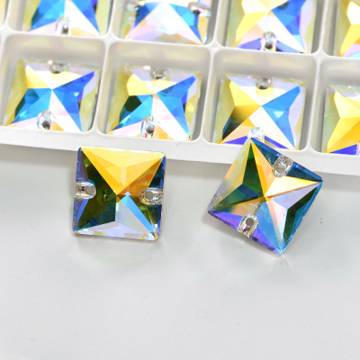 AAAAA Quality Factory Wholesale Square Shape K9 Glass Sewing jewelry