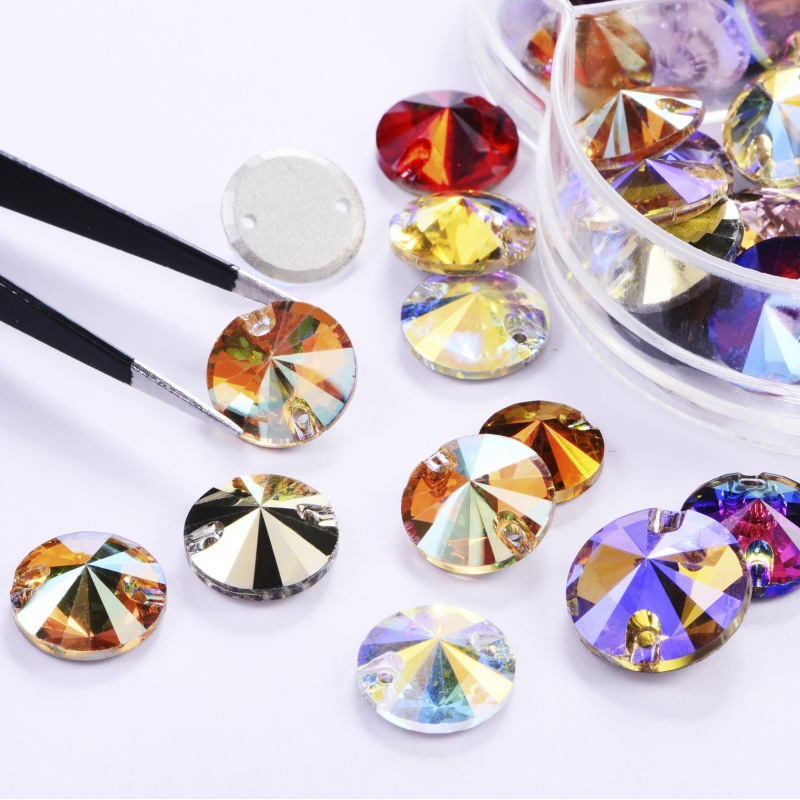AAAAA Teardrop Sunshine Color Sew On Glass Stone For Garment