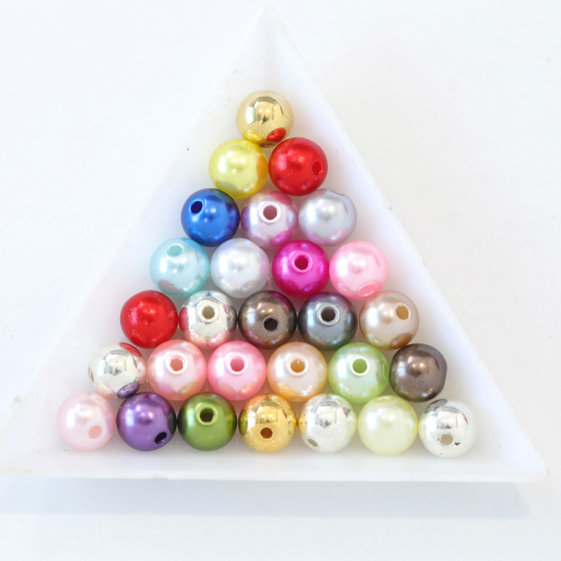 ABS Plastic Round Pearls with Holes