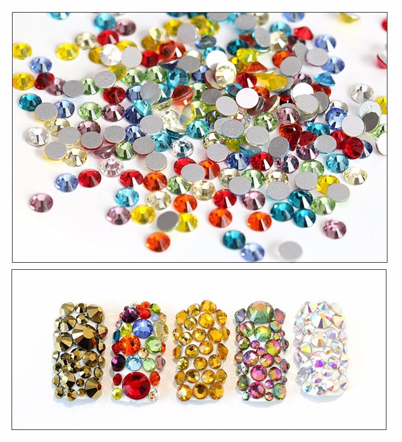 2028 Same Cuts Flatback Non Hot Fix Crystal Nail Rhinestone