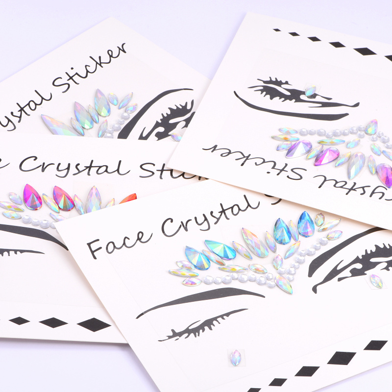 Crystal Face Sticker