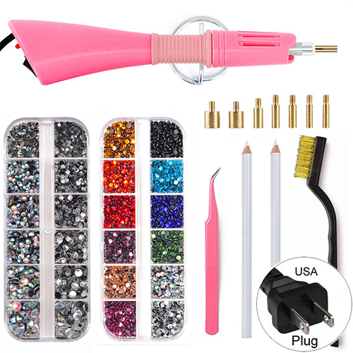 4000pcs 2 Boxes Mix Color Crystal DIY tool Setting in bulk Rhinestones facemask HotFix Rhinestone for Garment